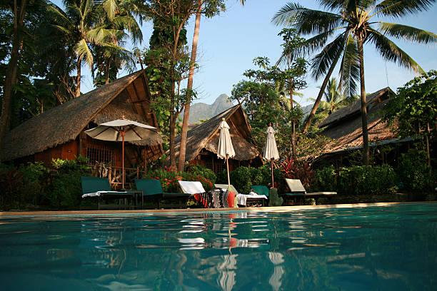 Swimming at Koh Chang stock photo