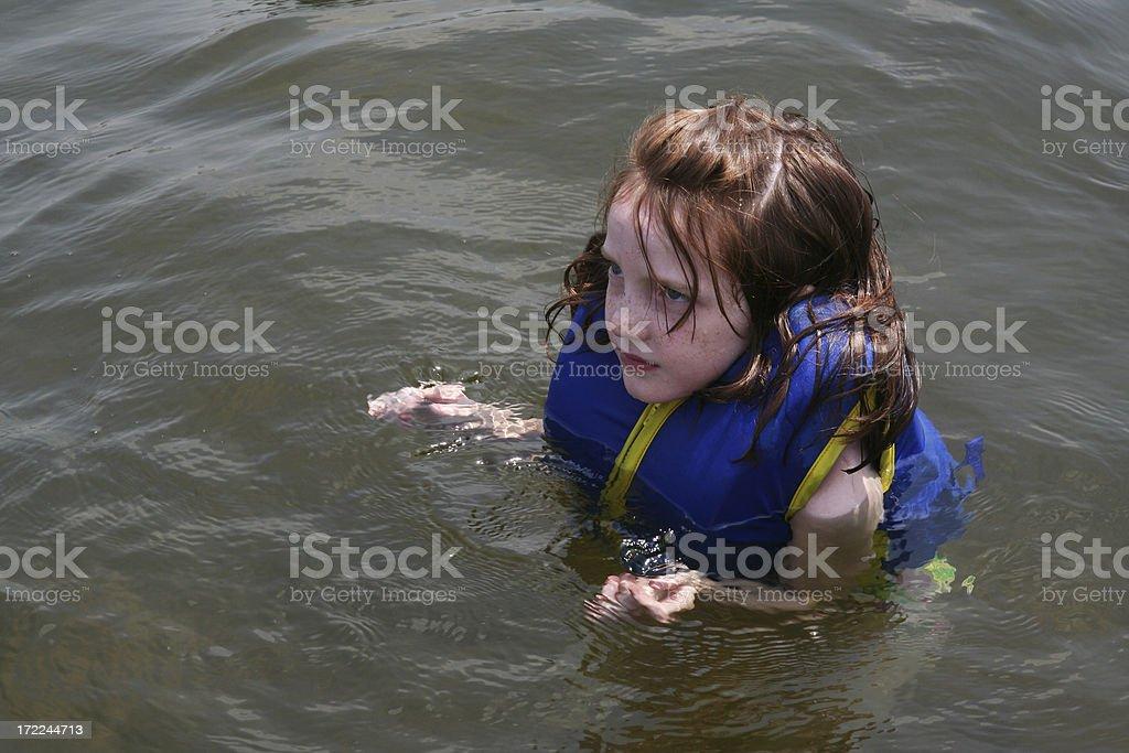 Swimming at the Lake royalty-free stock photo