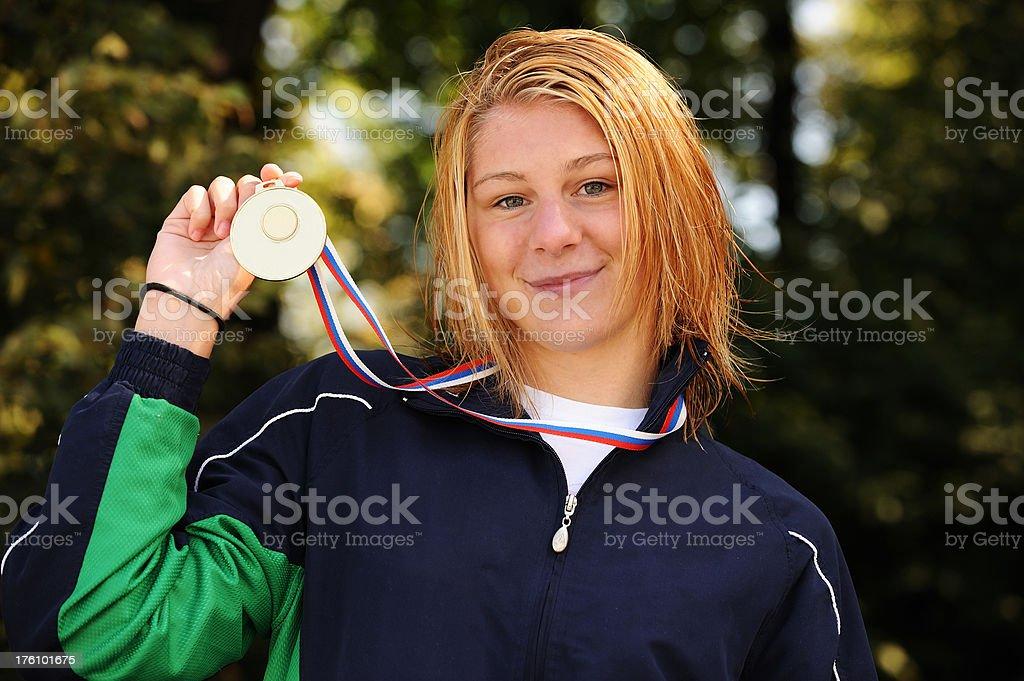 Swimming champion royalty-free stock photo