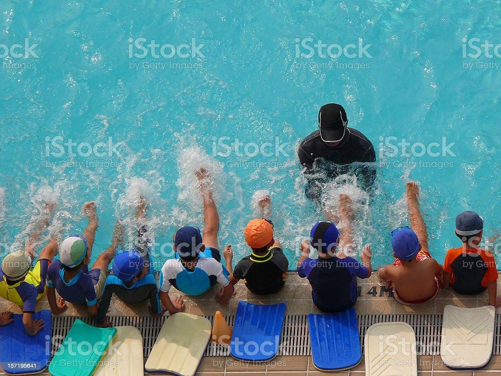 swimming class royalty-free stock photo