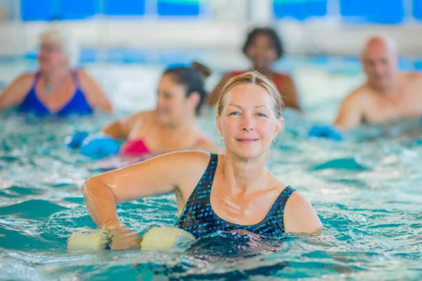 Swimming Class - foto stock