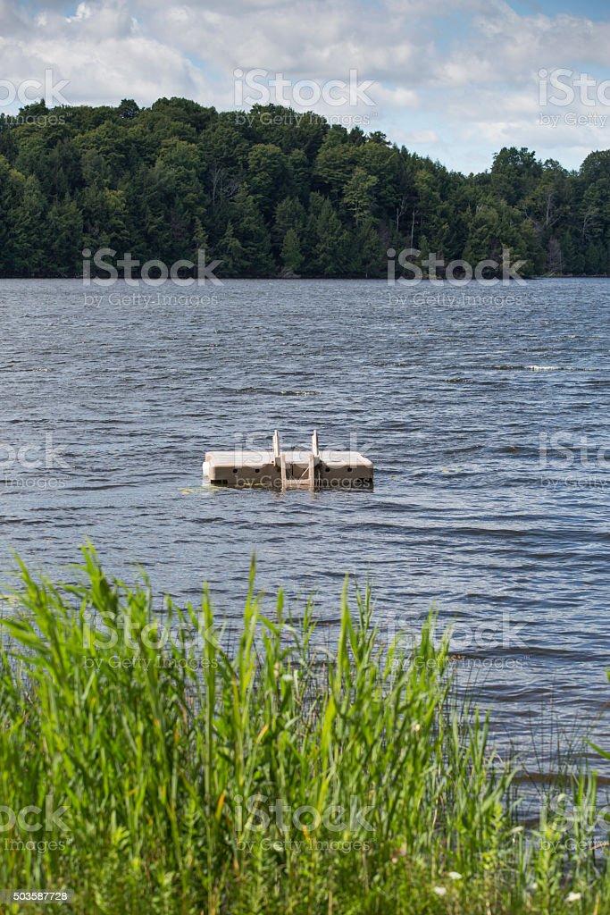 swimming dock stock photo
