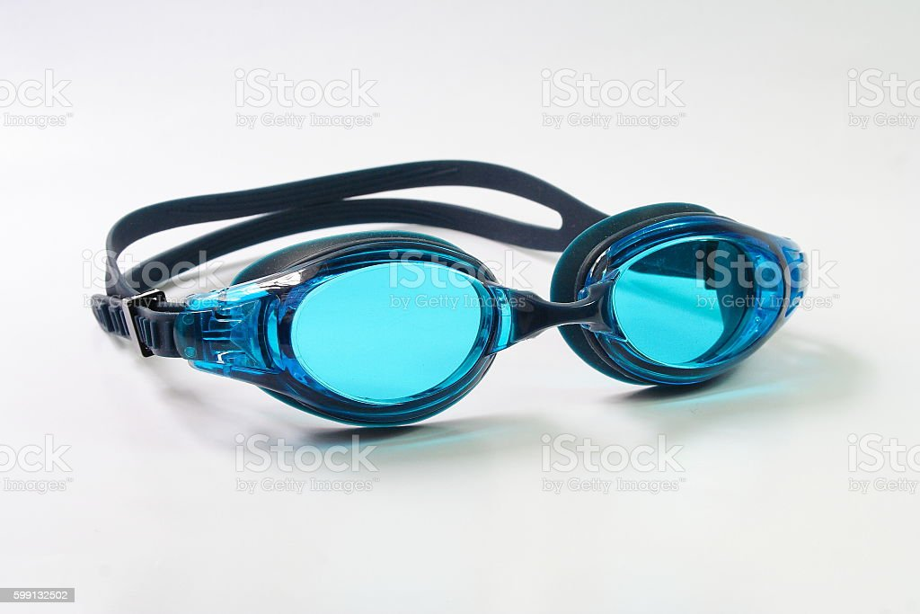 Swimming Goggles on white background stock photo