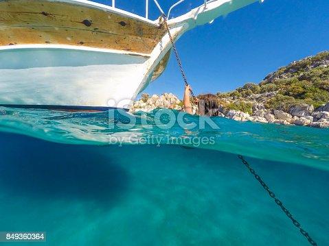 istock Swimming in clean water. Kekova bay from Antalya / Turkey. 849360364