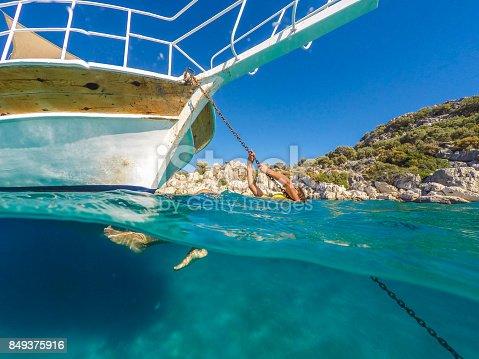 istock Swimming in clean water. Kekova bay from Antalya / Turkey. 849375916