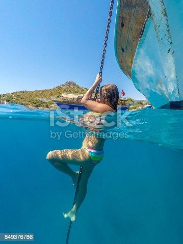 istock Swimming in clean water. Kekova bay from Antalya / Turkey. 849376786