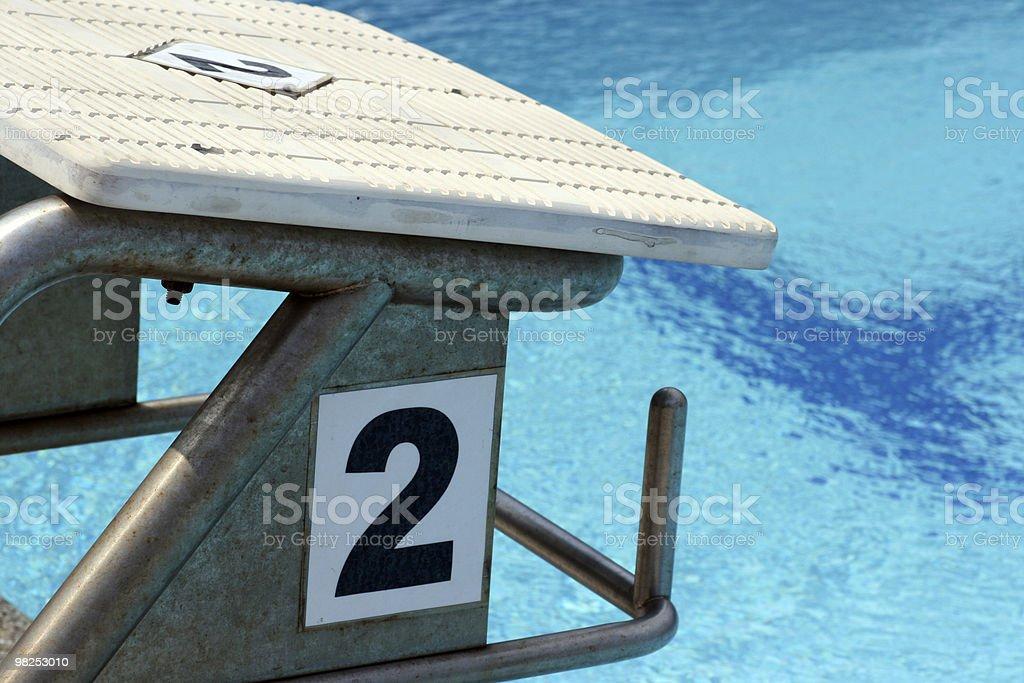 Swimming lane two royalty-free stock photo