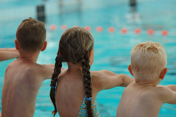 Swimming lesson 3 stock photo