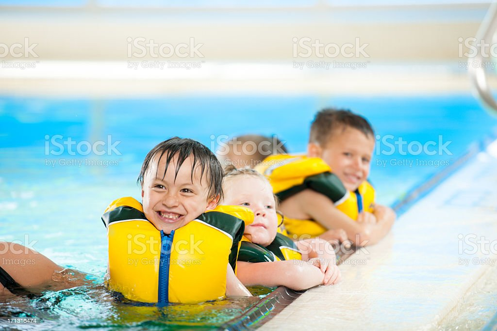 Swimming lessons stock photo