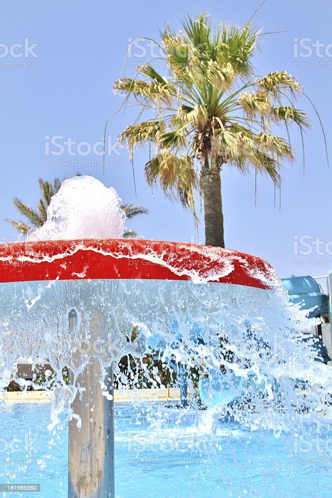swimming paradise stock photo