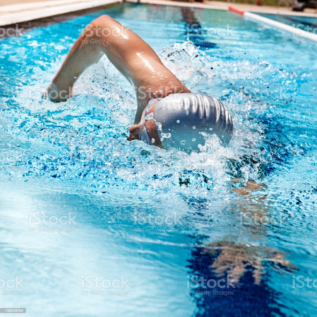 Swimming royalty-free stock photo