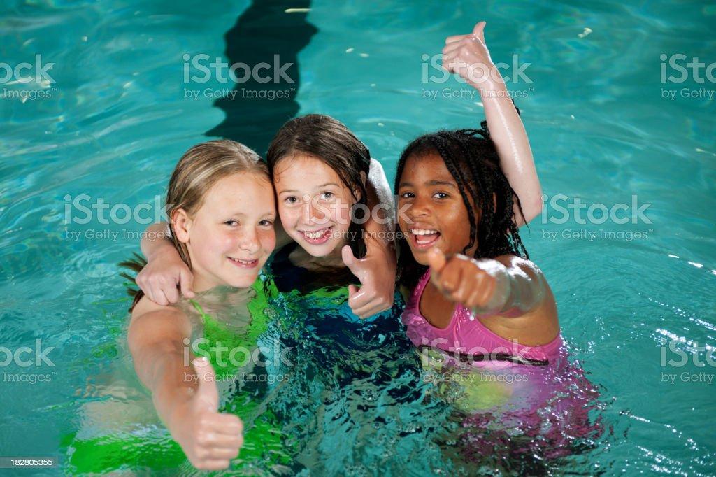 Swimming royalty-free stock photo