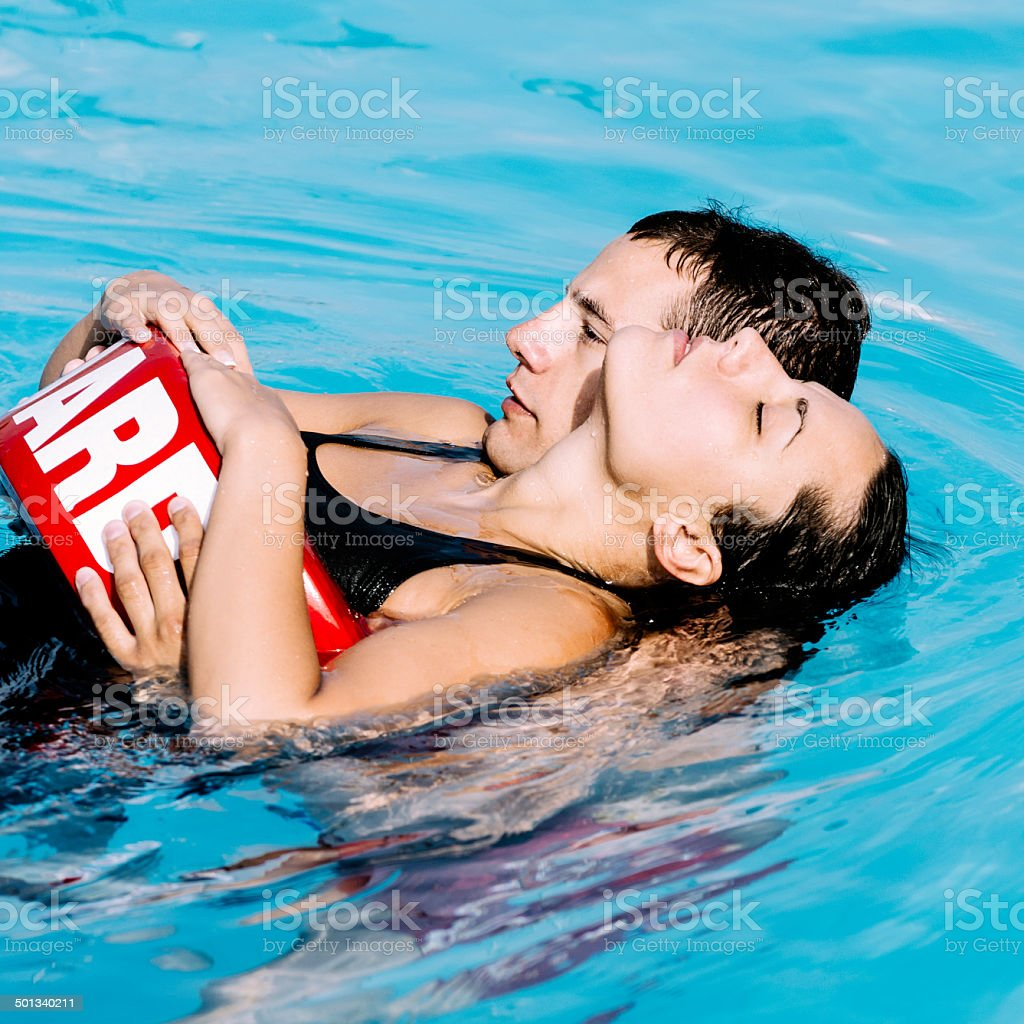 Swimming pool accident royalty-free stock photo