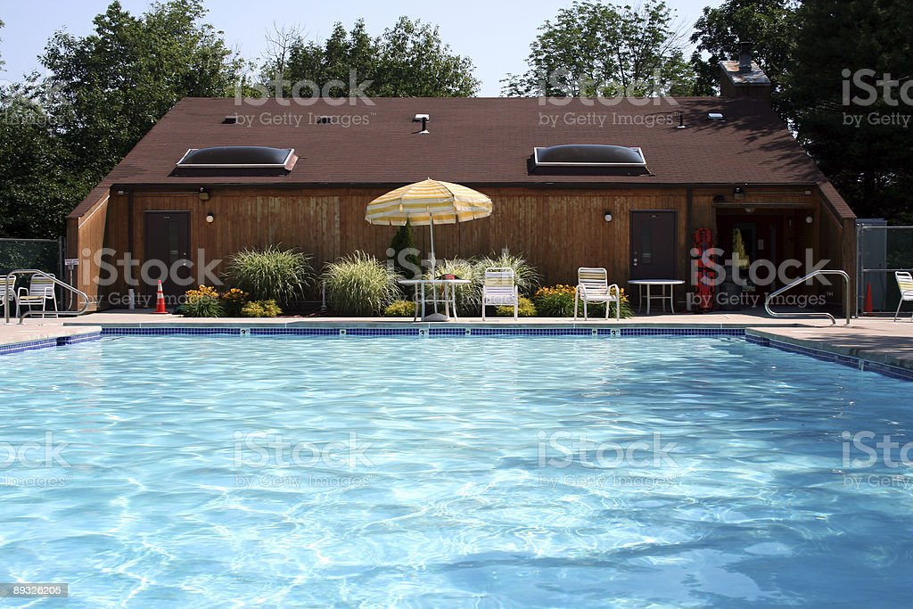 Swimming pool and house royalty-free stock photo
