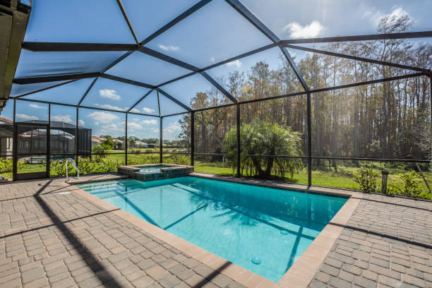 101 Swimming Pool Enclosures Stock Photos Pictures Royalty Free Images Istock