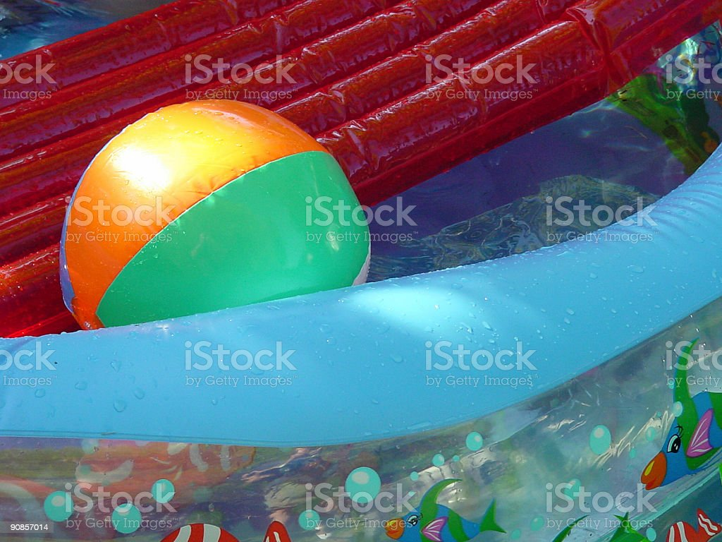 Swimming pool and water toys royalty-free stock photo
