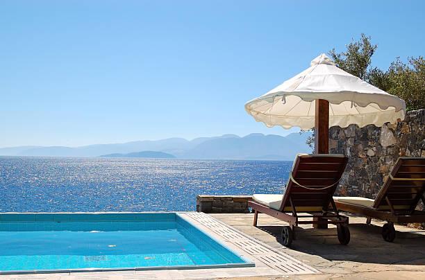 Schwimmbad im Luxus Villen, Kreta, Griechenland – Foto