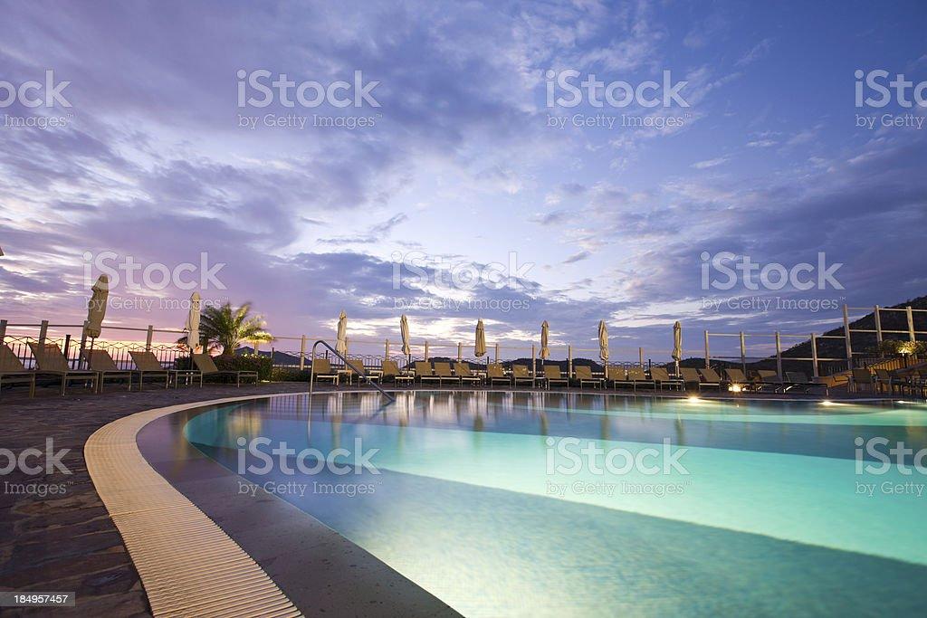 Swimming Pool At Resort stock photo
