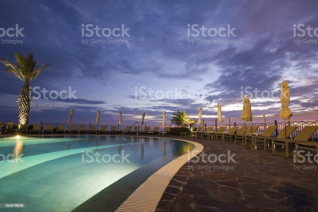 Swimming Pool At Resort royalty-free stock photo