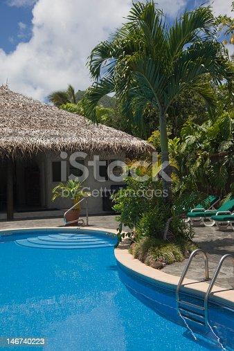 Swimming Pool at Tourist Resort - Rarotonga, Cook Islands, Polynesia