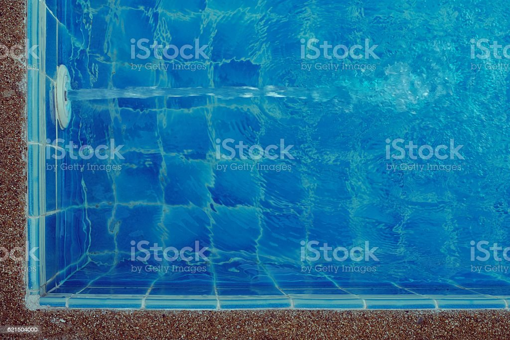 Swimming pool, Blue spa swimming pool with clean water Lizenzfreies stock-foto