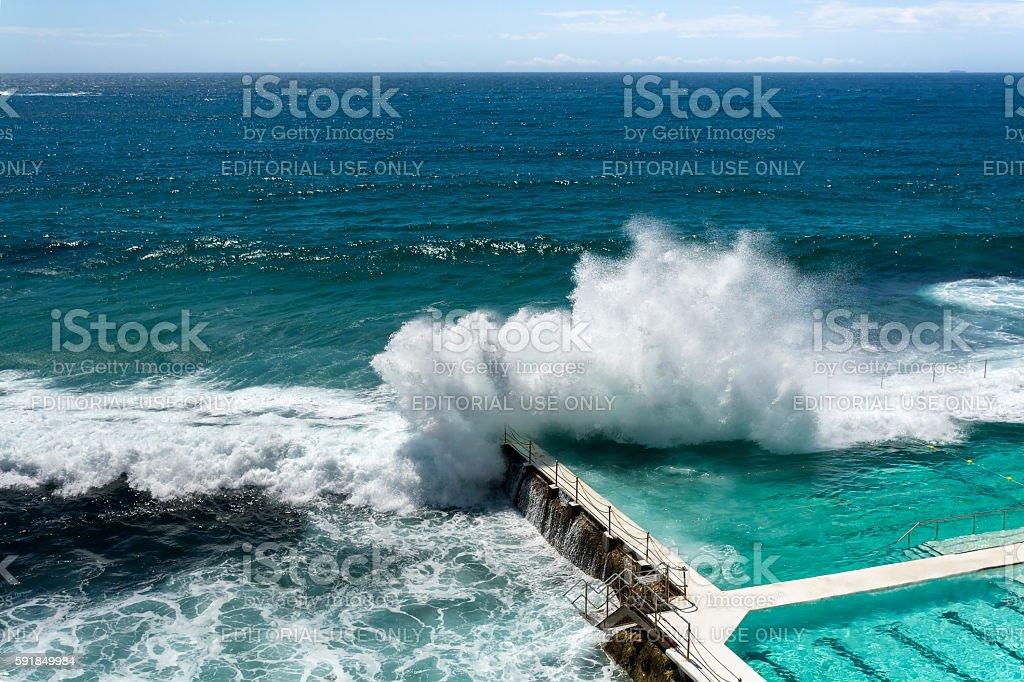 Piscine au bord de la mer - Photo