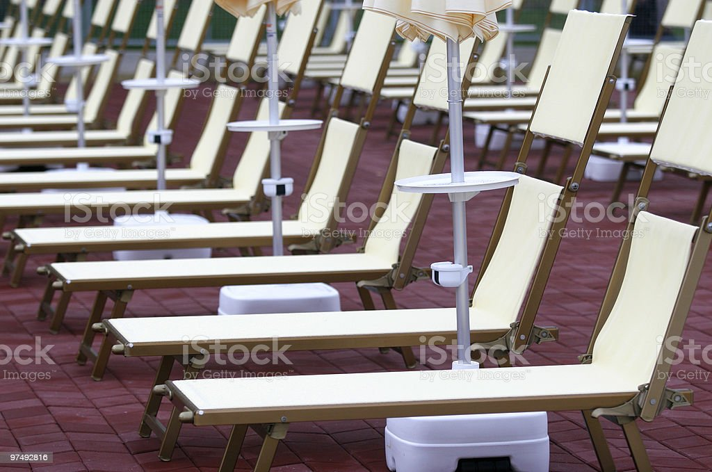 swimming pool chairs hotel royalty-free stock photo