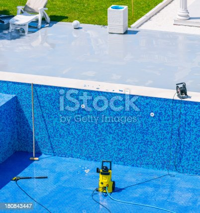 Swimming pool cleaning and repairs.