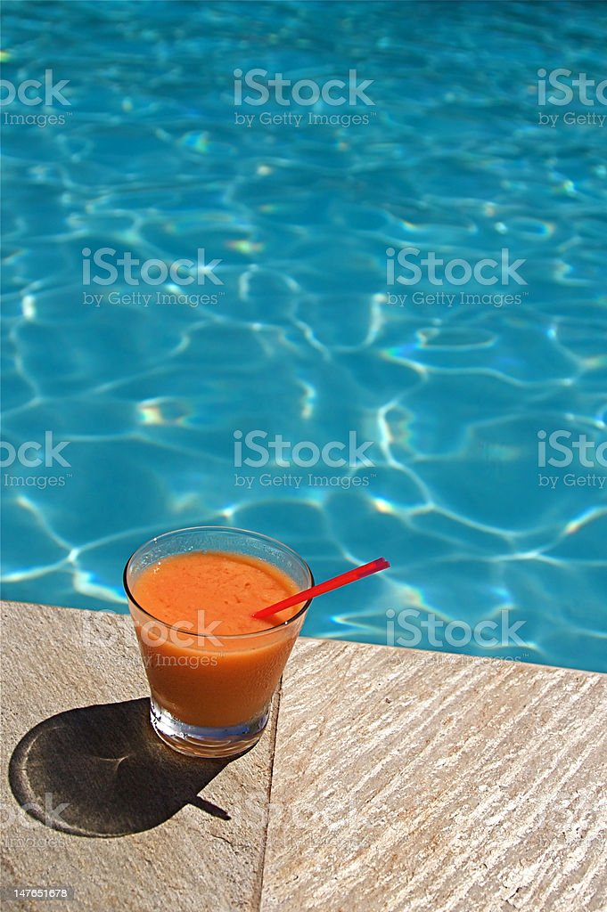 Swimming Pool Cocktails royalty-free stock photo