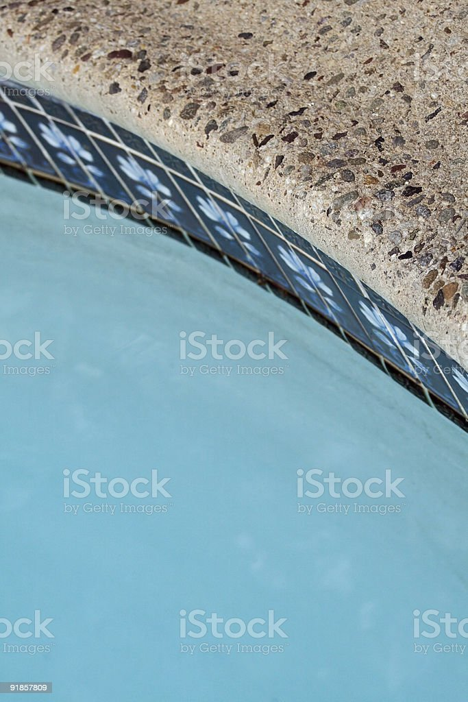 Swimming Pool Coping Stone And Tiles Stock Photo - Download ...