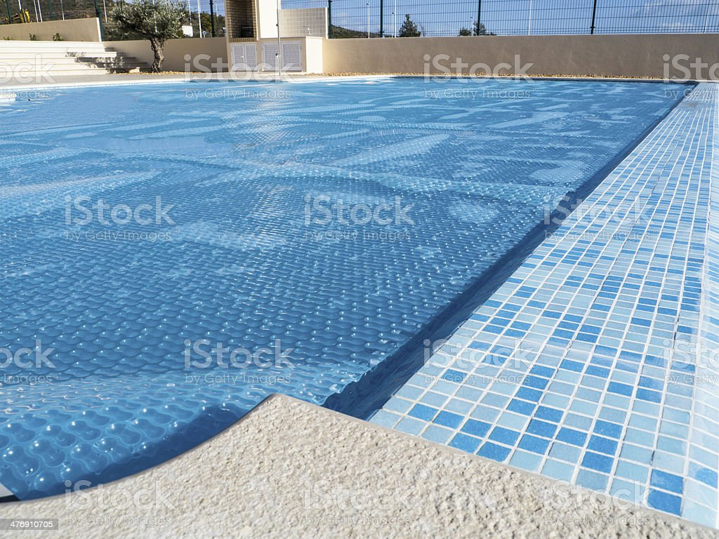 Swimming Pool Cover stock photo