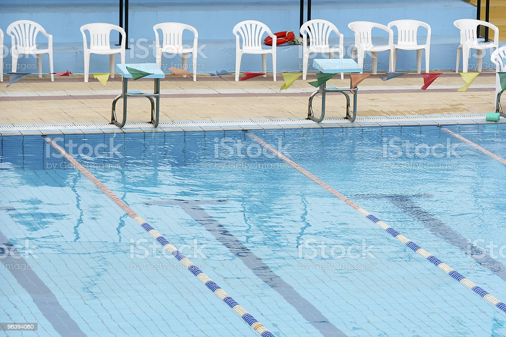 Swimming Pool Detail - Royalty-free Blue Stock Photo