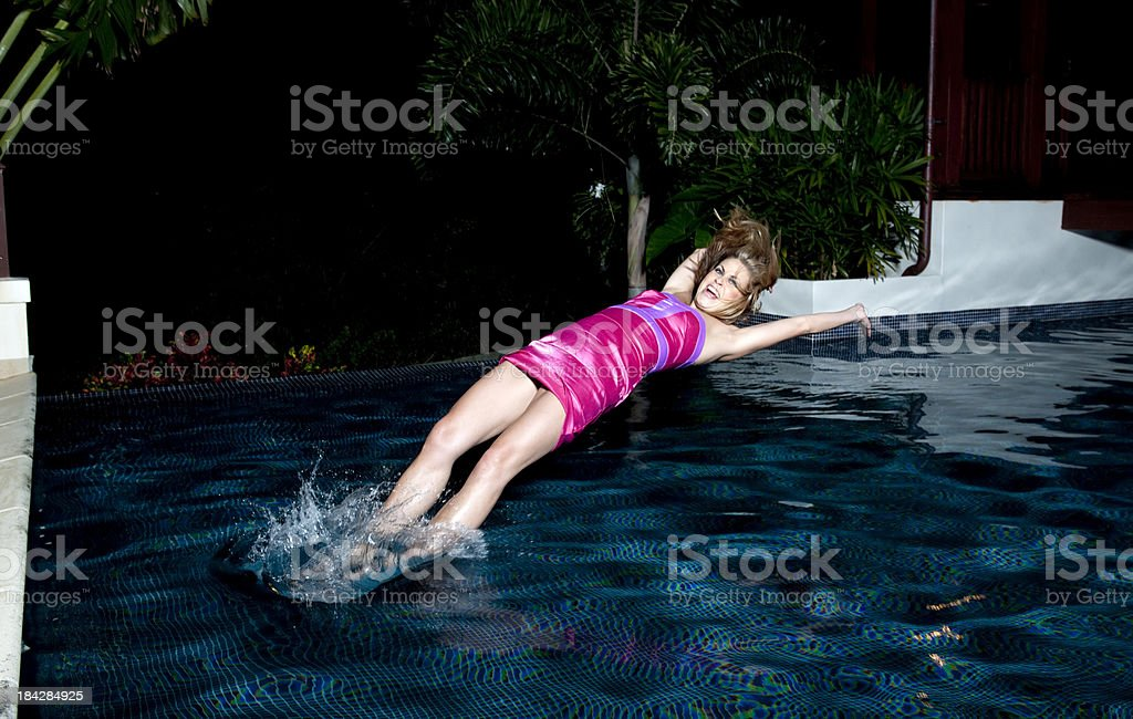 Swimming Pool Dive royalty-free stock photo