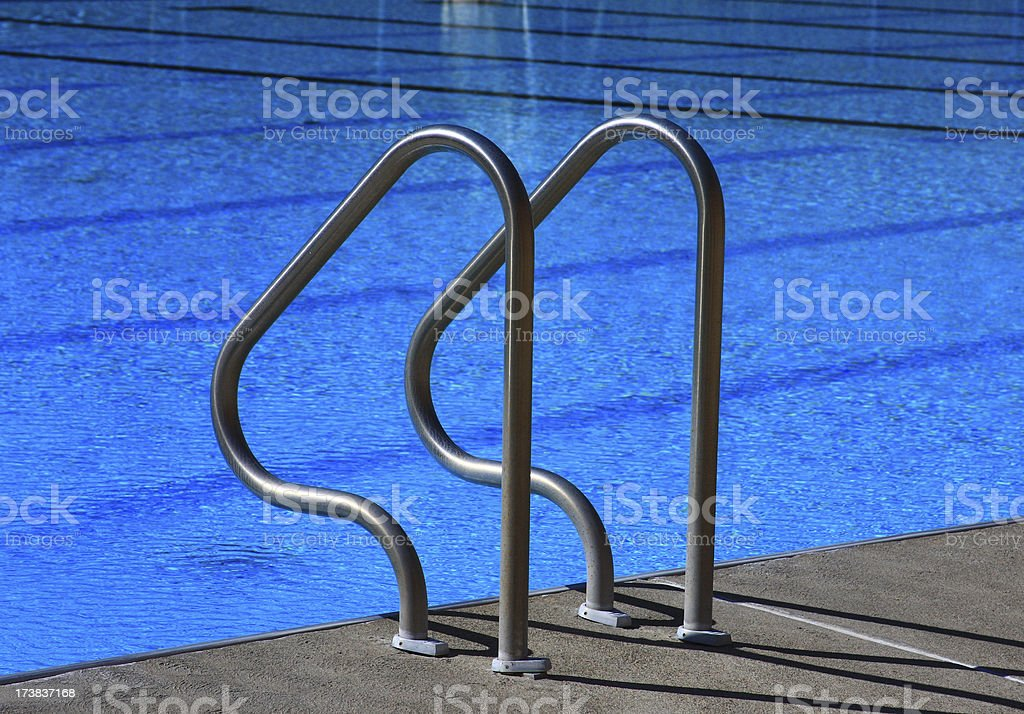 Swimming Pool entry ladder royalty-free stock photo