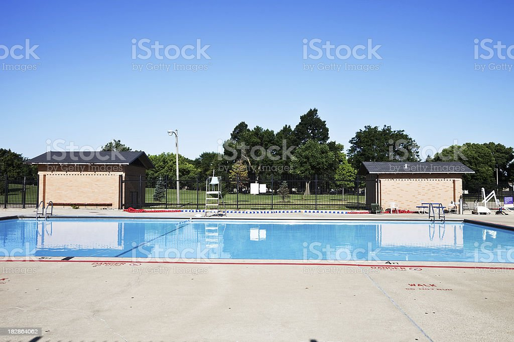 Swimming Pool in a Chicago Neighborhood Park royalty-free stock photo
