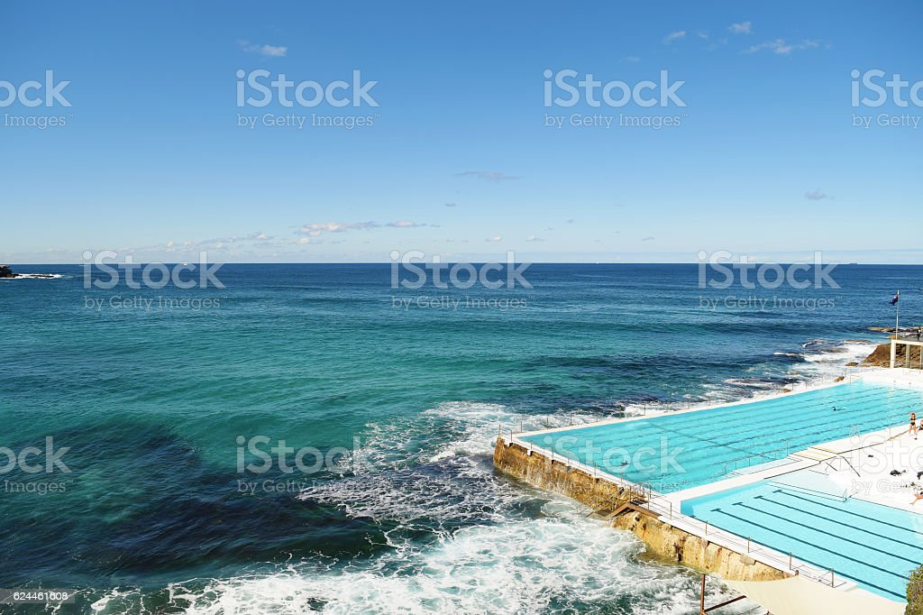 Swimming pool in Bondi Beach stock photo