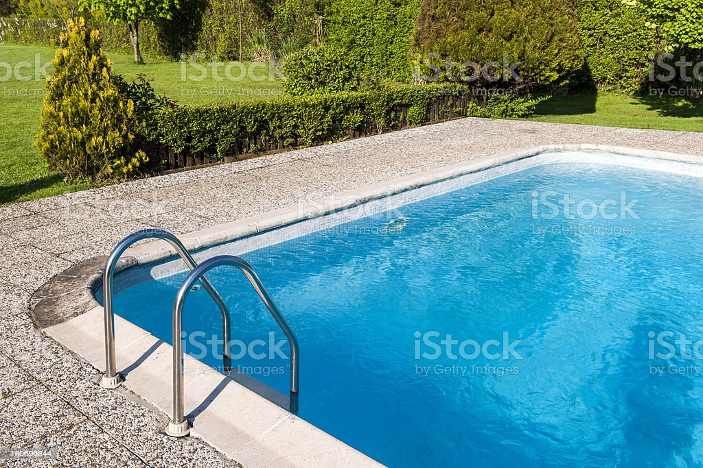 Detail of swimming pool in nature.