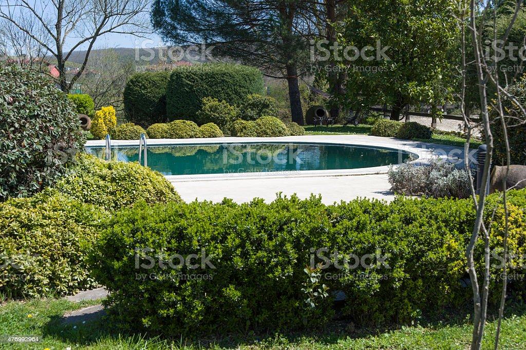 Swimmingpool Im Garten Stockfoto und mehr Bilder von 2015 ...