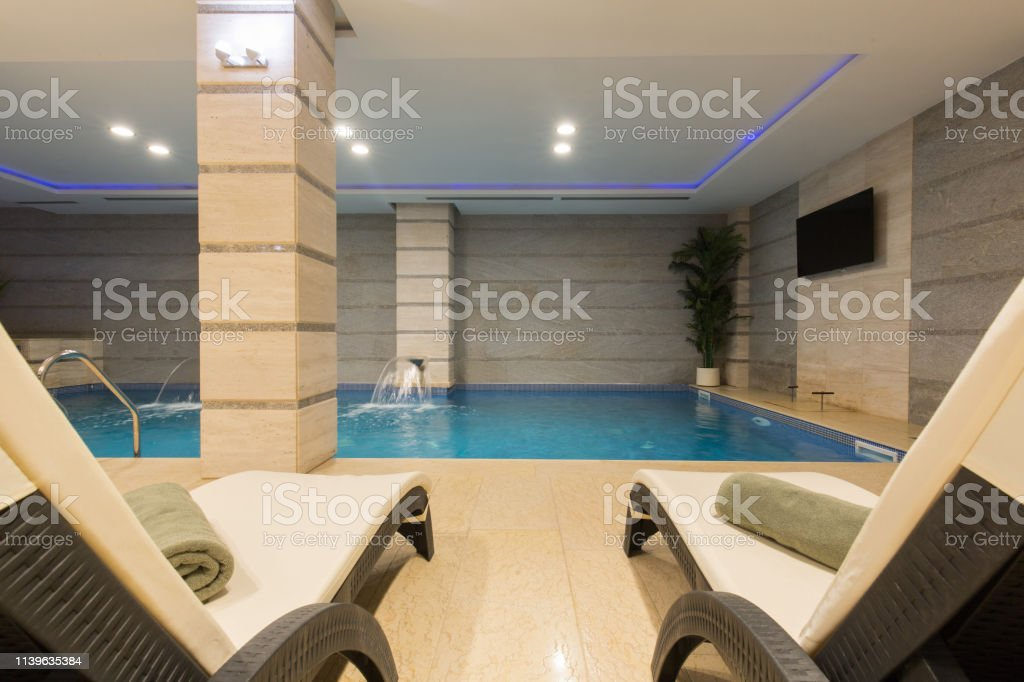 Swimming pool in hotel spa and wellness center