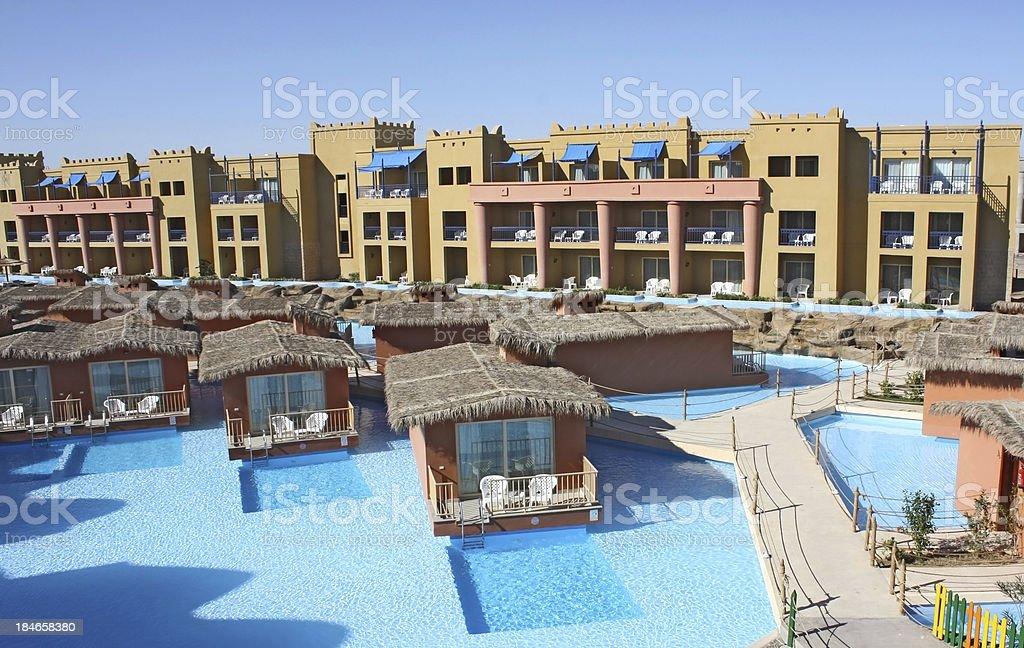 Swimming Pool in luxury Arabian resort royalty-free stock photo