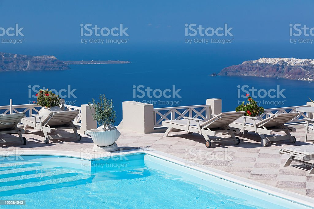 Swimming pool in patio royalty-free stock photo