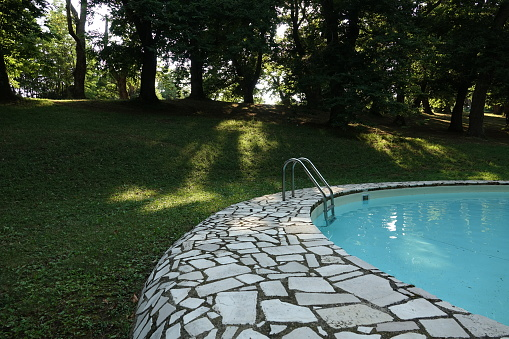 swimming pool in public park