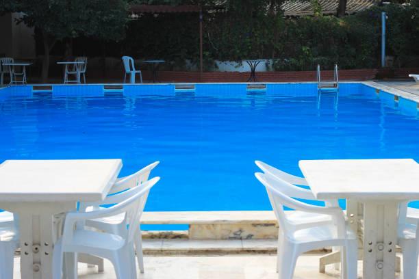 Otel havuzu resort yüzme havuzunda stok fotoğrafı