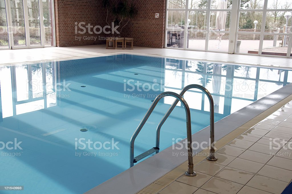 Swimming pool indoors royalty-free stock photo