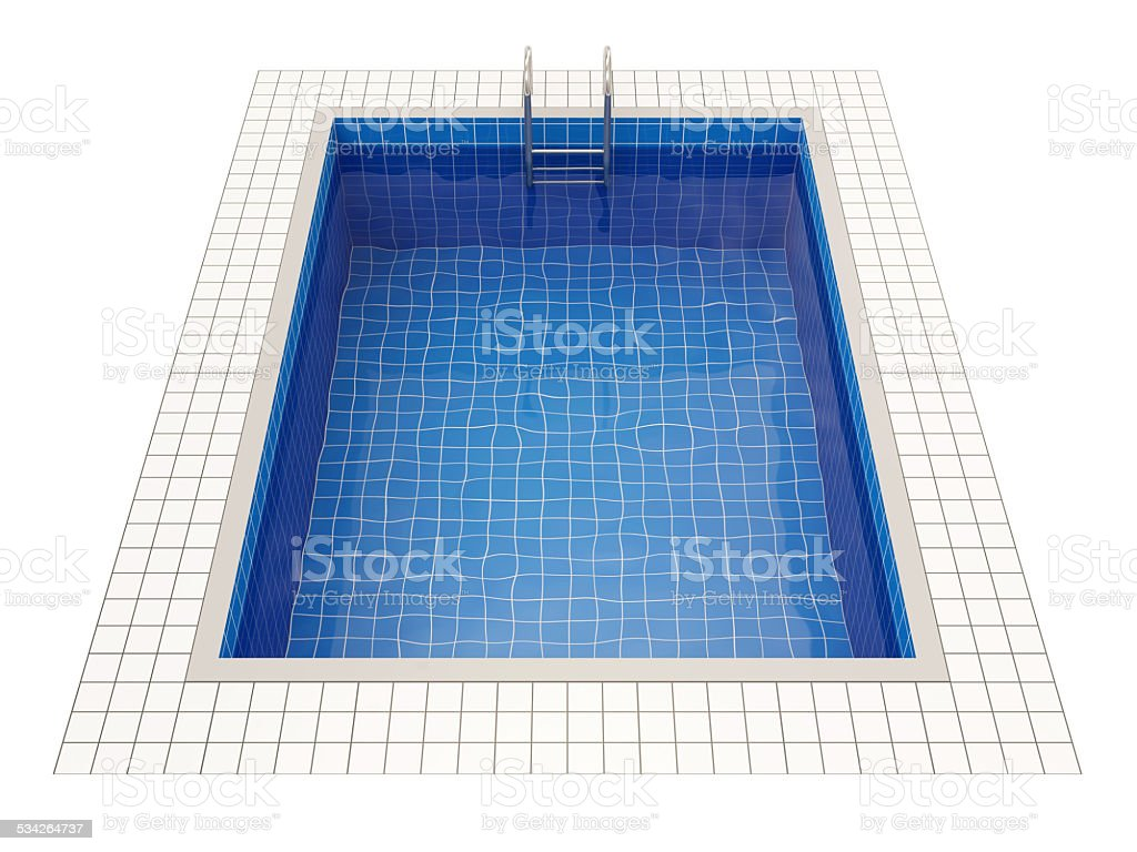 Swimming Pool isolated on white background stock photo