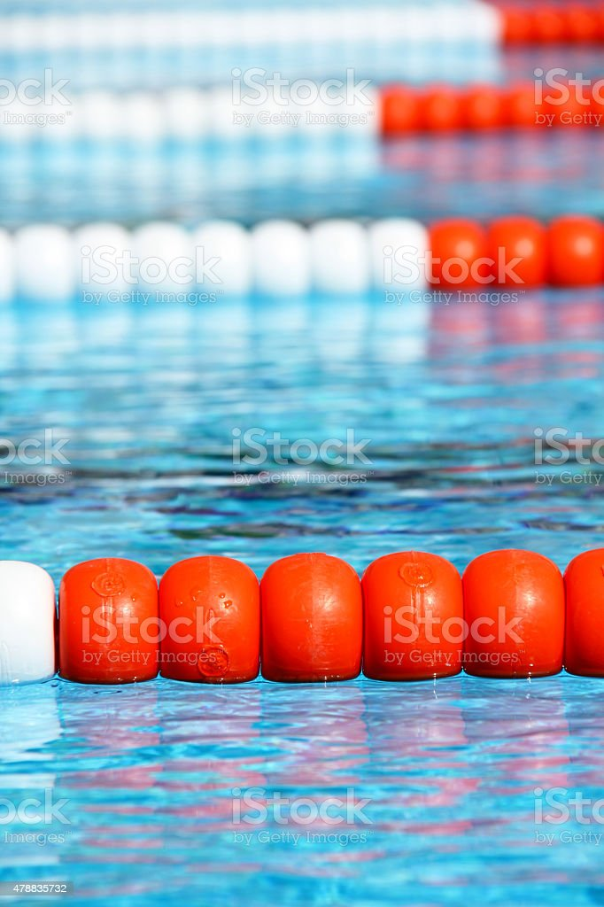 Swimming Pool Lane Ropes Stock Photo - Download Image Now ...
