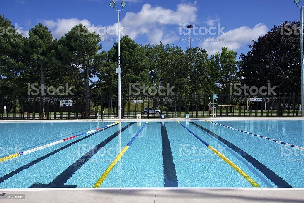 Swimming Pool Lanes stock photo