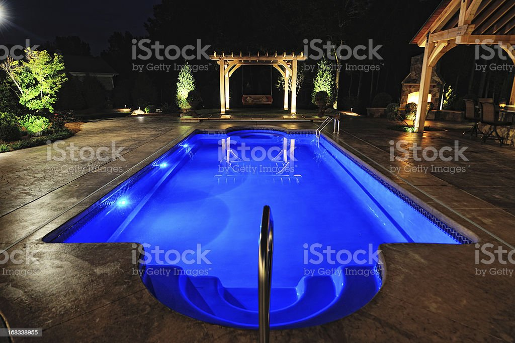 Swimming Pool of Luxury Home royalty-free stock photo