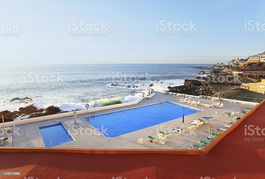 Swimming pool on atlantic royalty-free stock photo