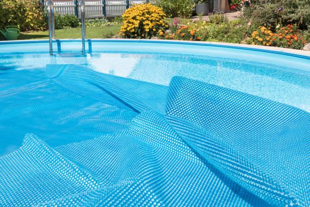 Swimming Pool. Geöffneten Deckel – Foto
